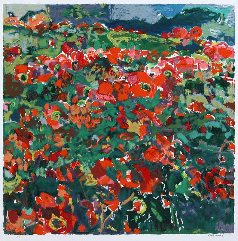 Poppy Field by Abraham Binder