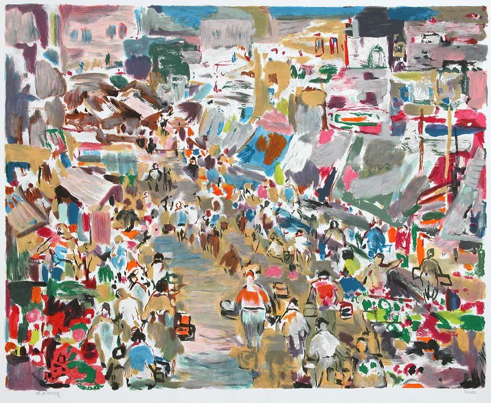 The Market by Abraham Binder