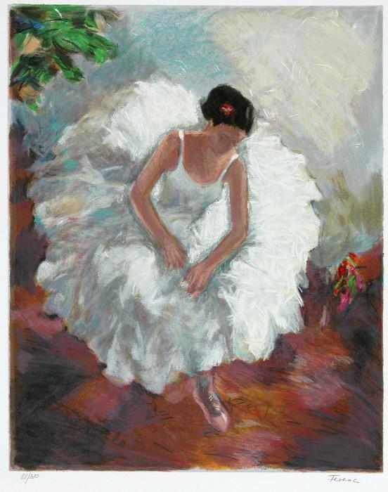 White Dancer by Hedva Firenci