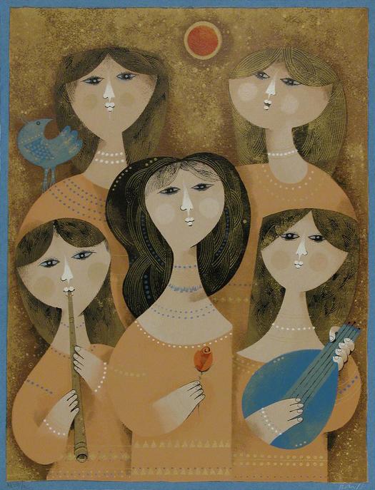 Five Musicians by Sami Briss
