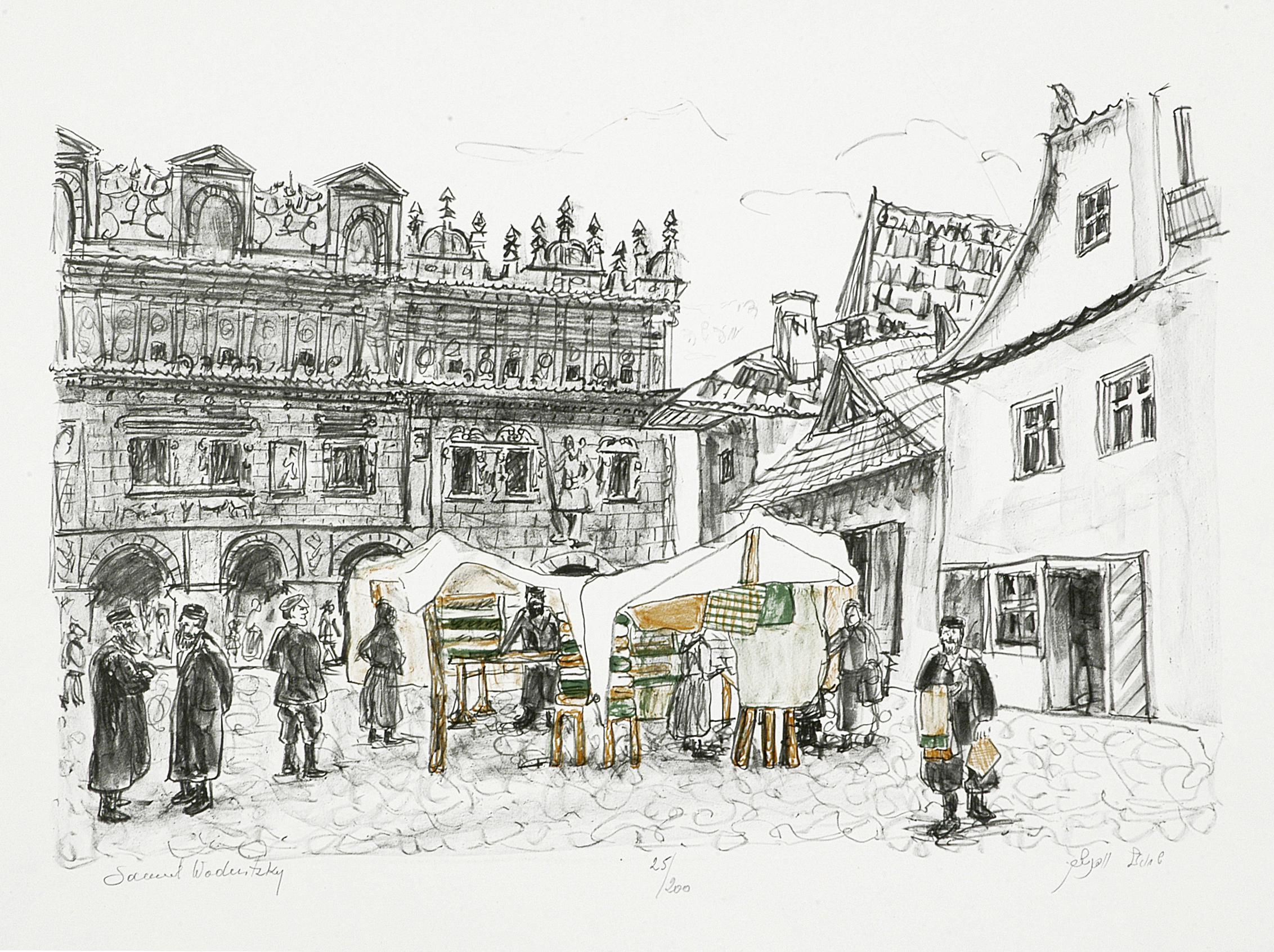 S-186 Market Place in Kuzmir by Shmuel Wodnitzky