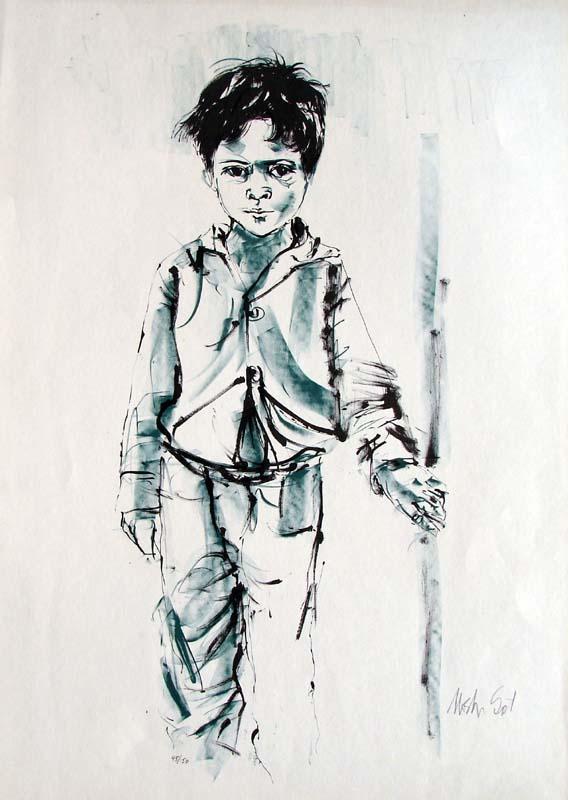 Boy by Moshe Gat