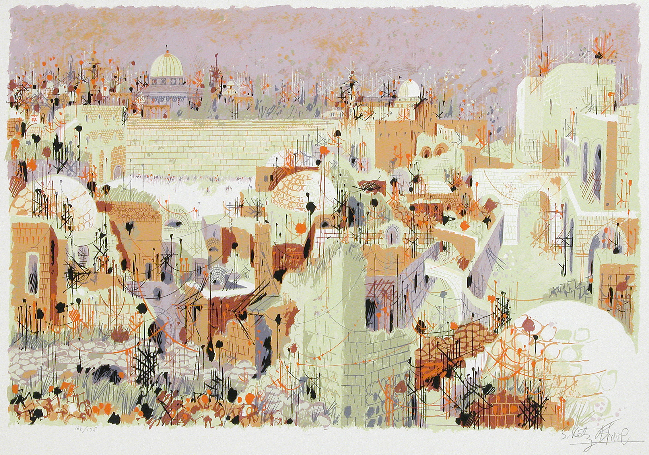 S-90 View of the Western Wall II by Shemuel Katz