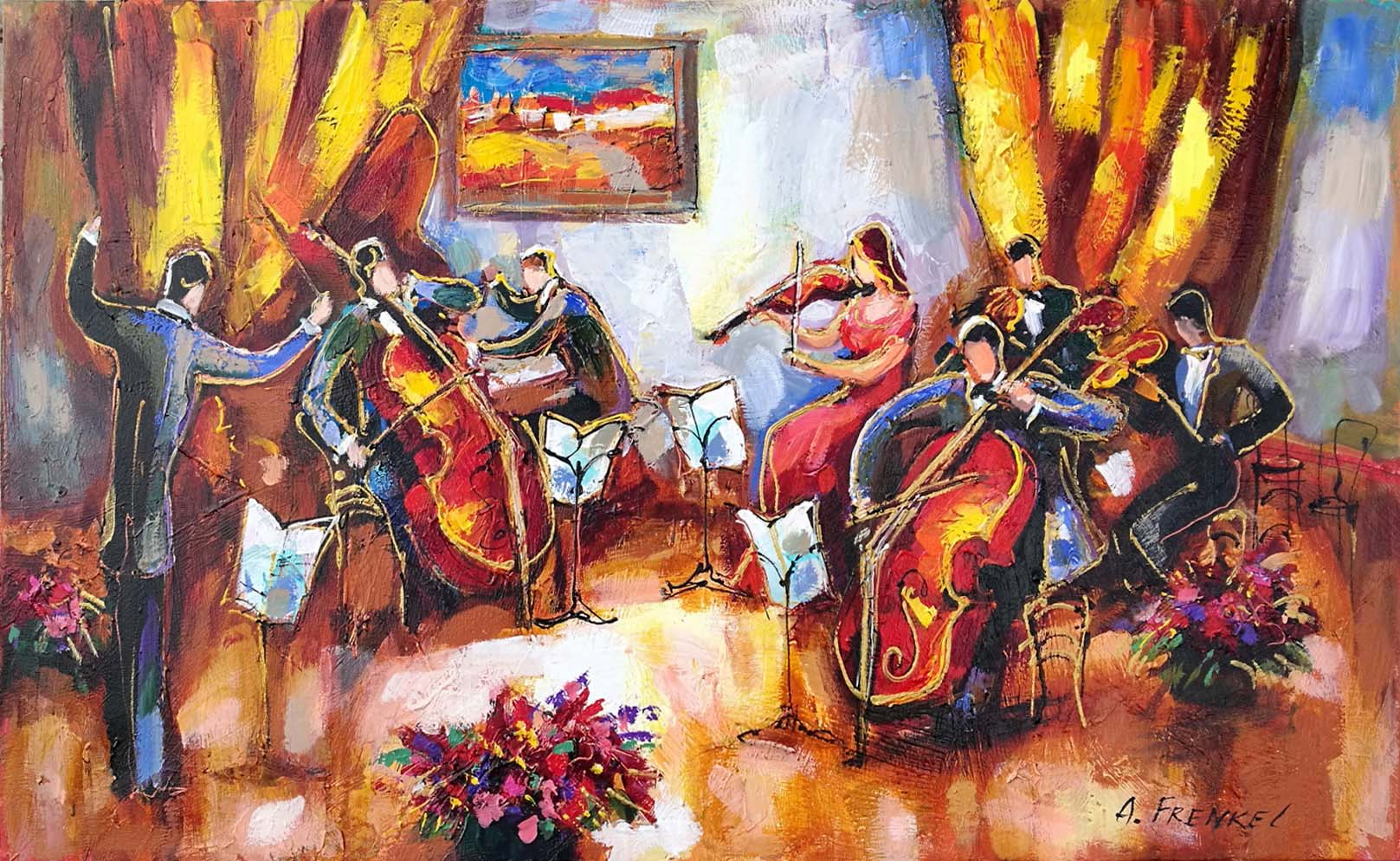 Musicians I by  Frenkel