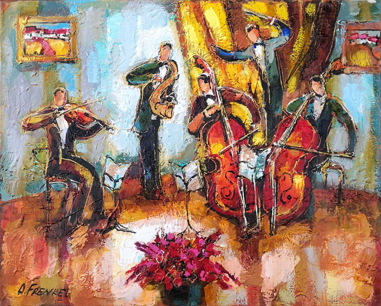 Musicians II by  Frenkel