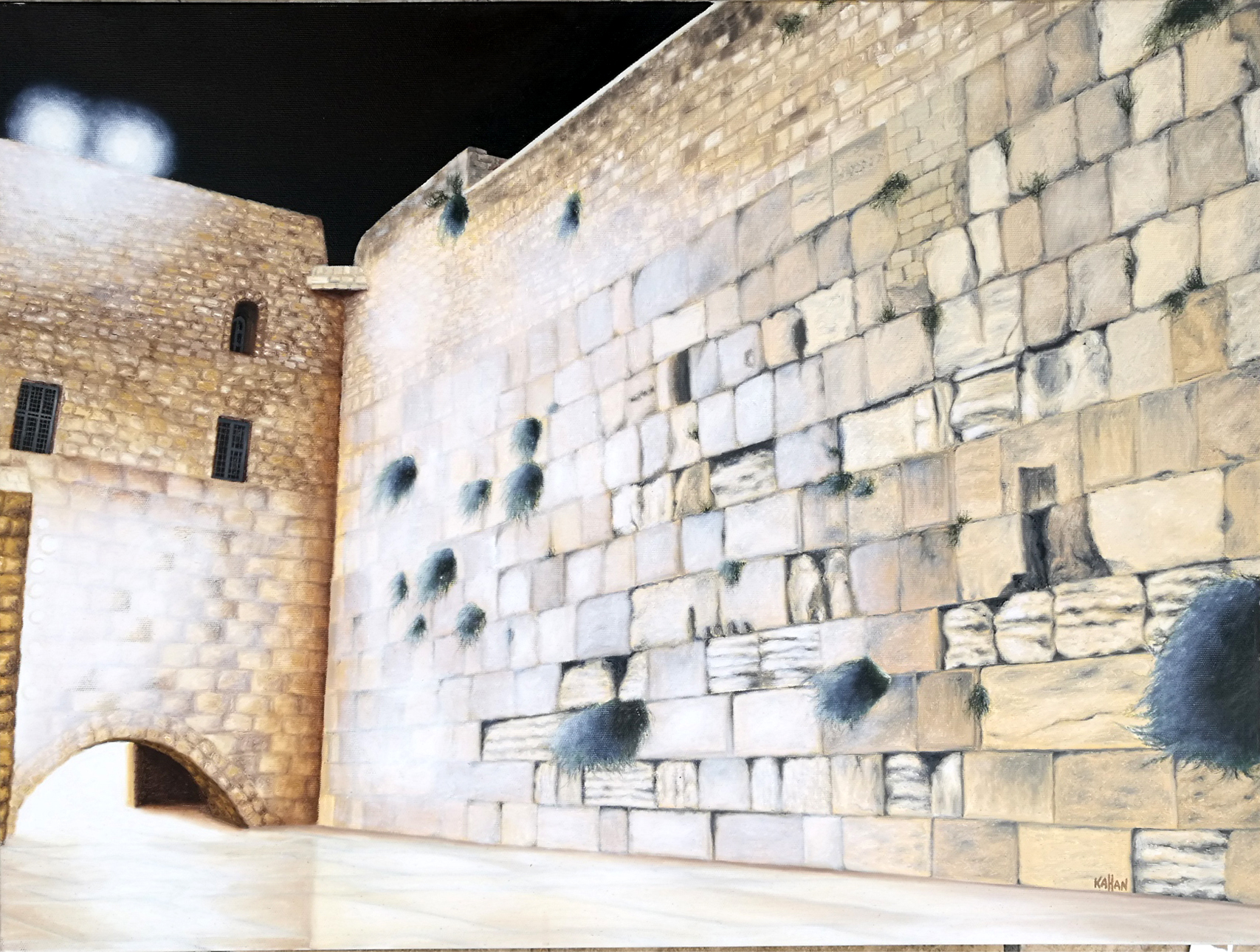 The Kotel by  Kahan