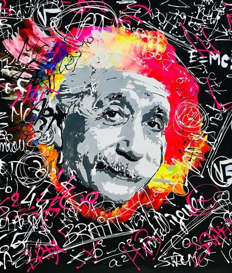 Einstein in Fun by  Clem$