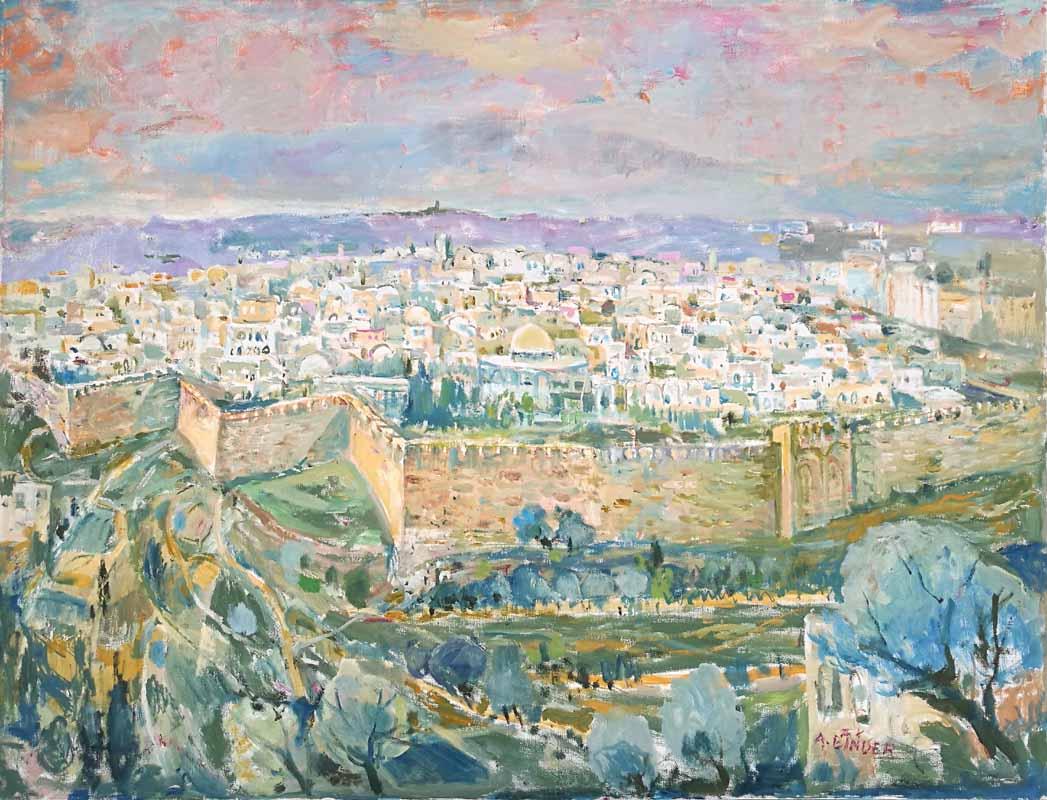 Gates of Jerusalem by Abraham Binder
