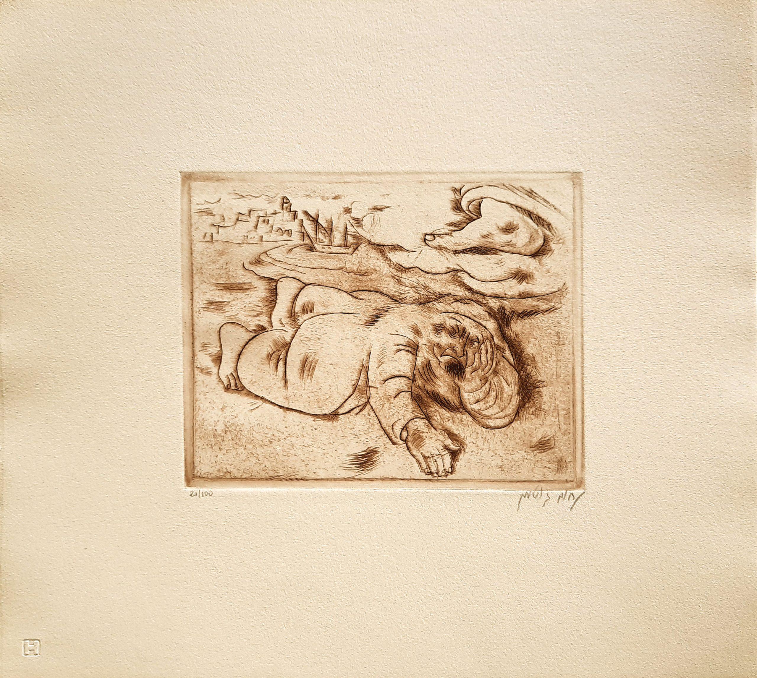 Jonah lay and was fast asleep by  Nachum Gutman