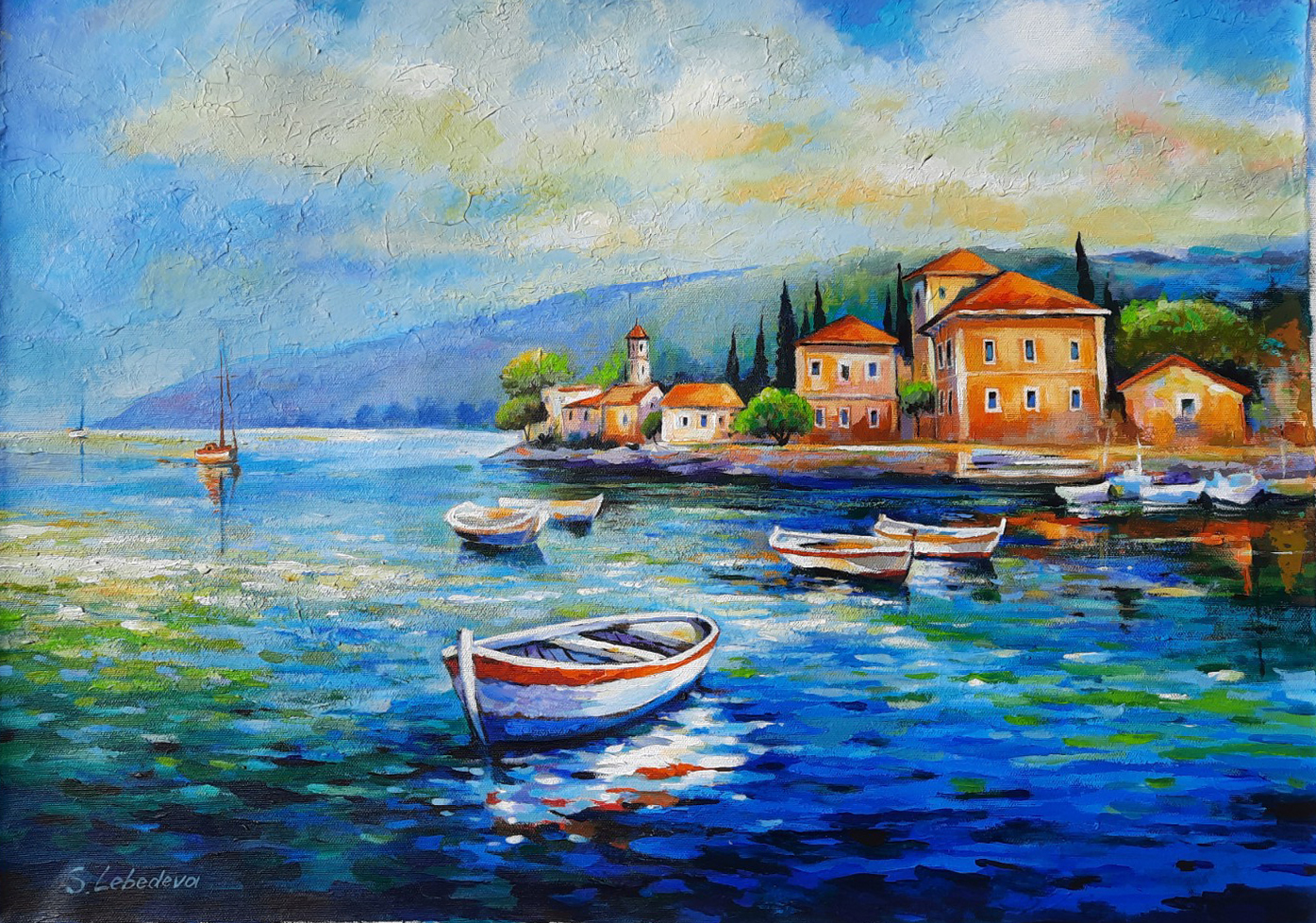 Tiberias Boats by  Lebedeva