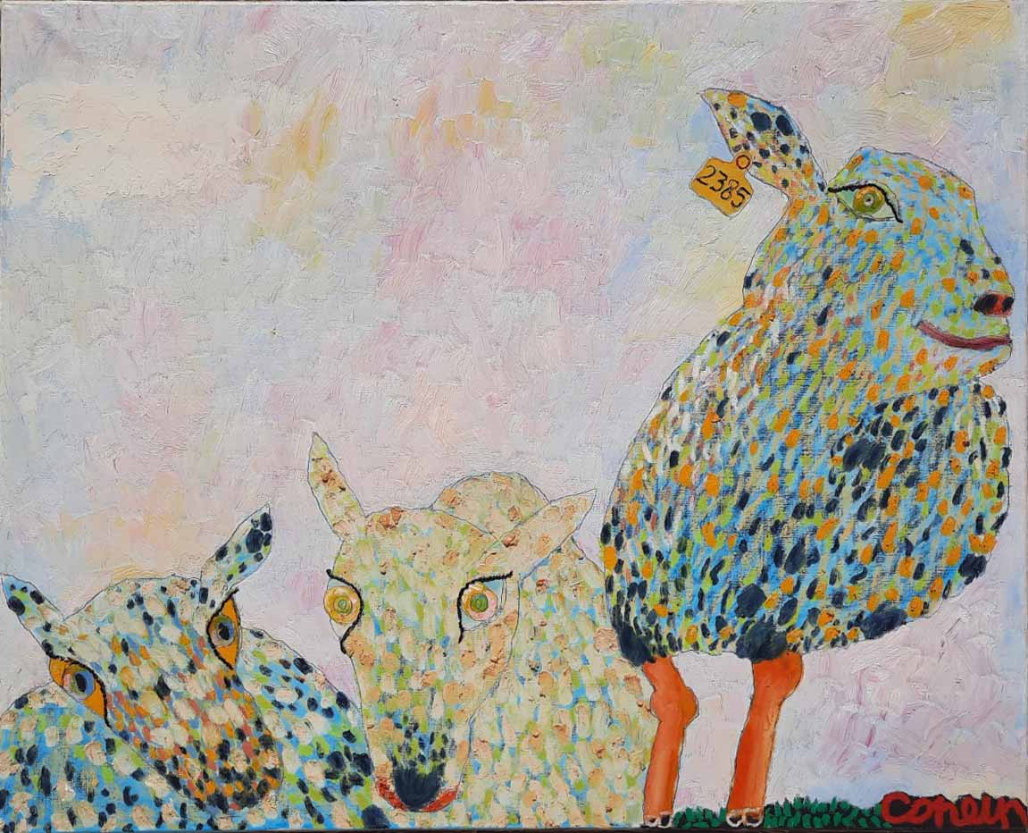A family of Sheep by  Valery Konevin