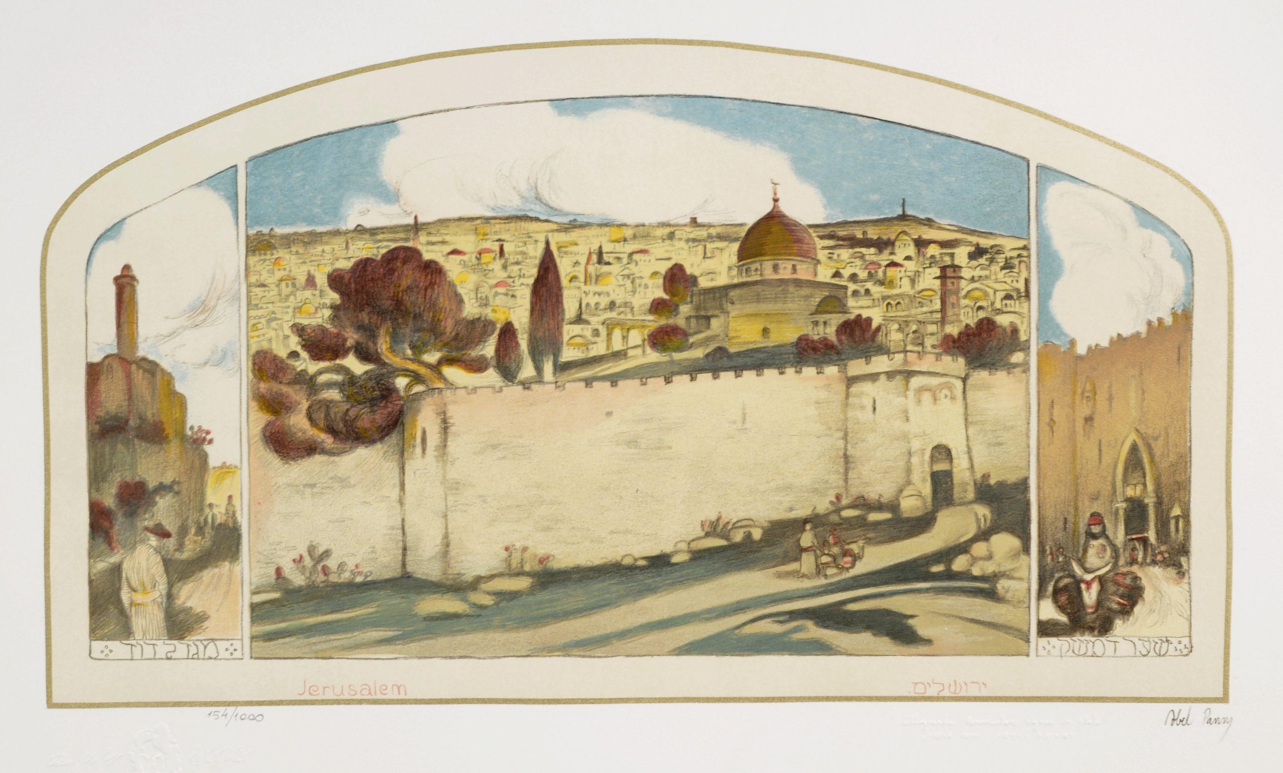 Jerusalem by  Abel Pann