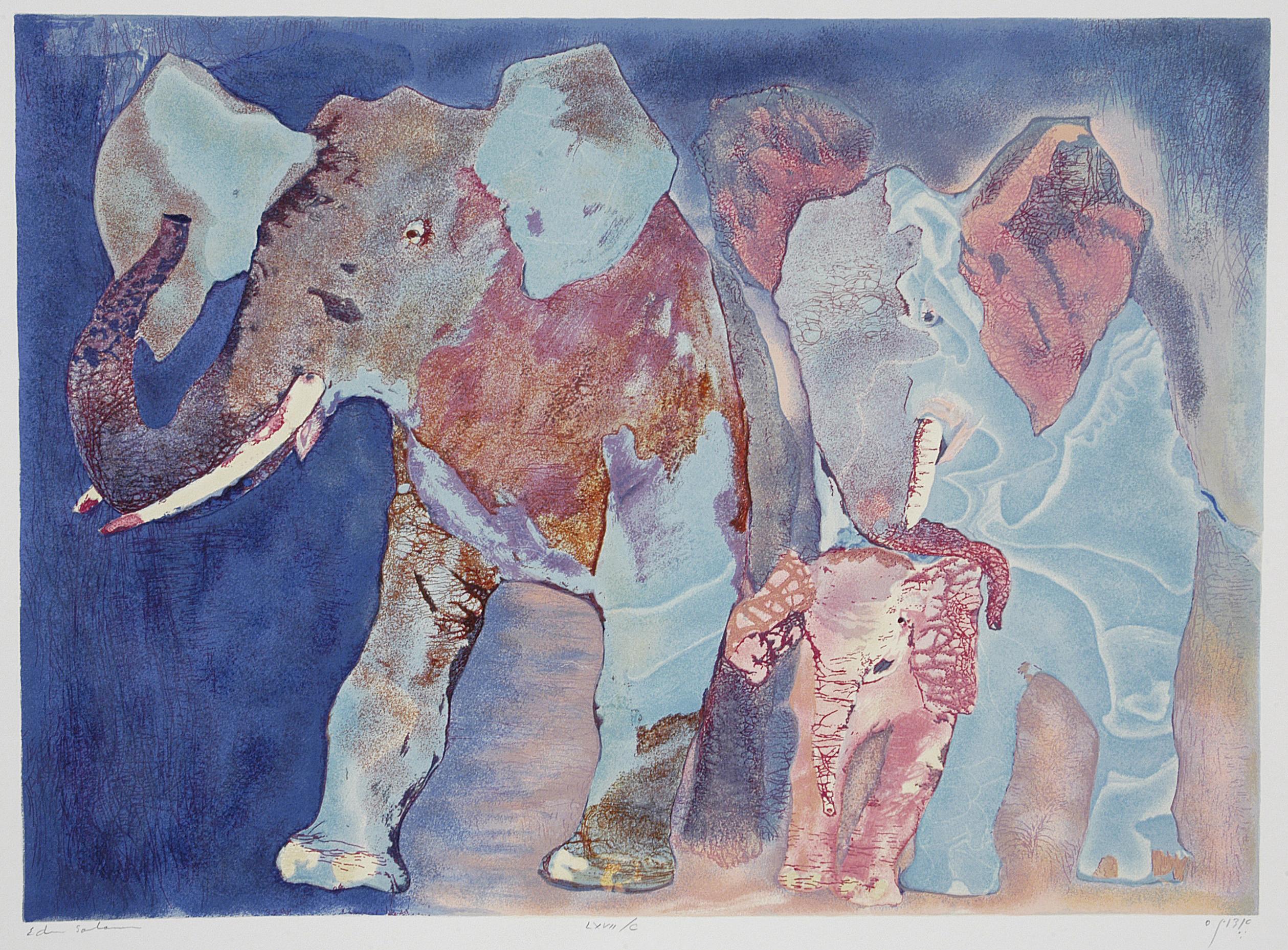 Family of Elephants by  Salomon Edwin